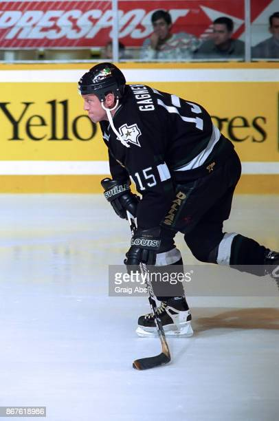 Dave Gagner of the Dallas Stars skates against the Toronto Maple Leafs during NHL game action on December 9 1995 at Maple Leaf Gardens in Toronto...