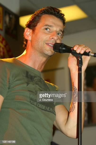 Dave Gahan during Dave Gahan in Concert at Tower Records in New York City at Tower Records West 4th Street in New York City New York United States