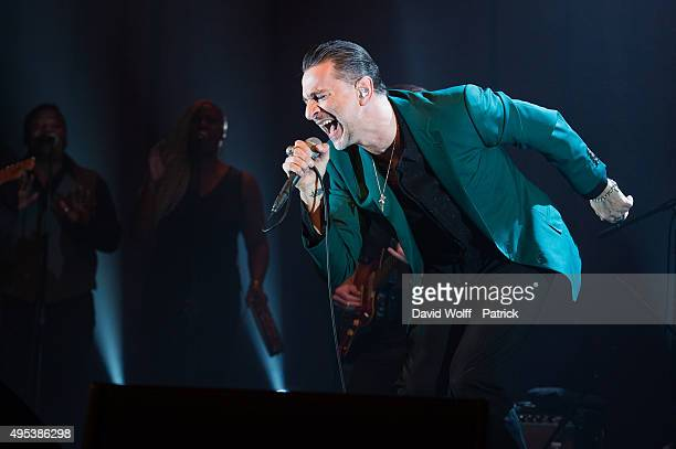 Dave Gahan from Dave Gahan and Soulsavers performs at La Cigale on November 2 2015 in Paris France