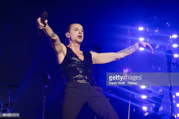 Dave Gahan from Depeche Mode performs at AccorHotels Arena on December 3 2017 in Paris France