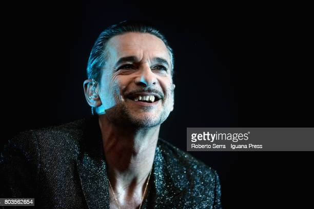 Dave Gahan leads the Depeche Mode in a concert of their Global Spirit Tour at Stadio Renato Dall'Ara on June 29 2017 in Bologna Italy