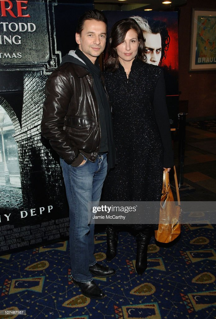 Dave Gahan of Depeche Mode and wife attend 'Sweeney Todd The Demon Barber of Fleet Street' Special Screening for the New York Goth Community on...