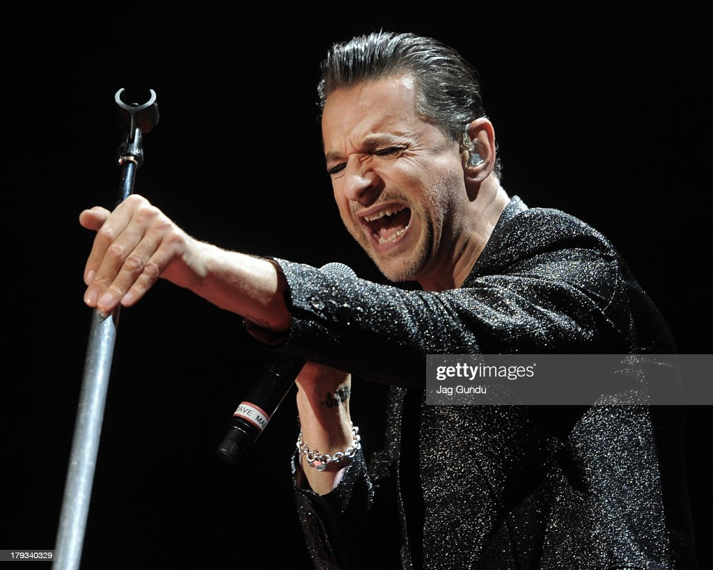 Dave Gahan of Depeche Mode on stage during 'The Delta Machine Tour' at the Molson Canadian Amphitheatre on September 1 2013 in Toronto Canada