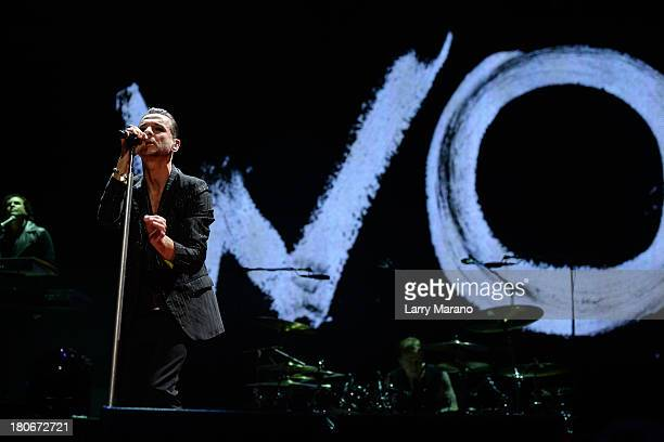 Dave Gahan of Depeche Mode performs at BBT Center on September 15 2013 in Sunrise Florida