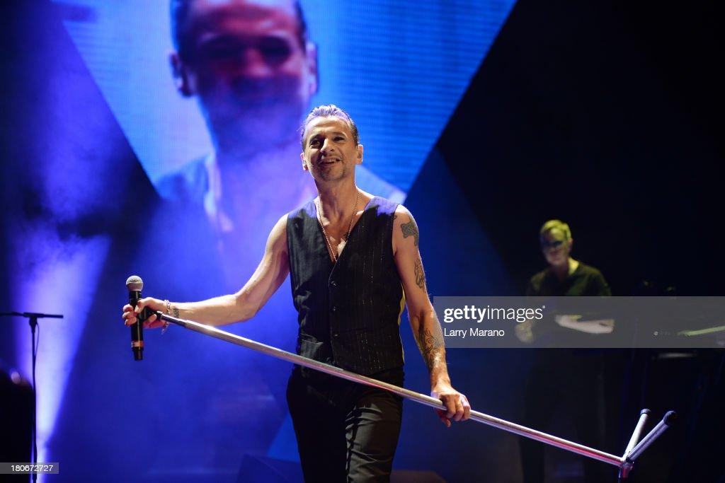 Dave Gahan of Depeche Mode performs at BBT Center on September 15 2013 in Sunrise Florida