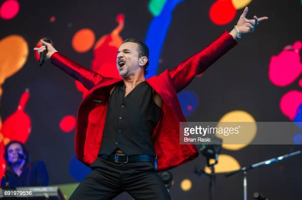 Dave Gahan of Depeche Mode performs at London Stadium on June 3 2017 in London England
