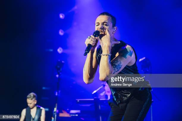 Dave Gahan of Depeche Mode performs at Manchester Arena on November 17 2017 in Manchester England