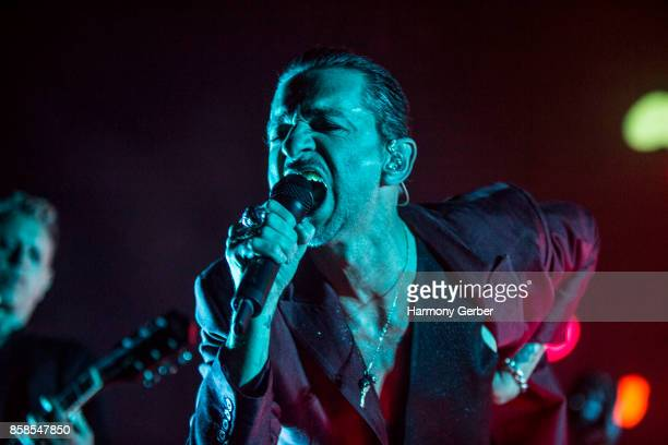Dave Gahan of Depeche Mode performs at Mattress Firm Amphitheatre on October 6 2017 in Chula Vista California