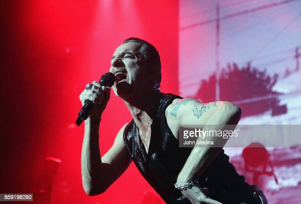 Dave Gahan of Depeche Mode performs at SAP Center on October 8 2017 in San Jose California