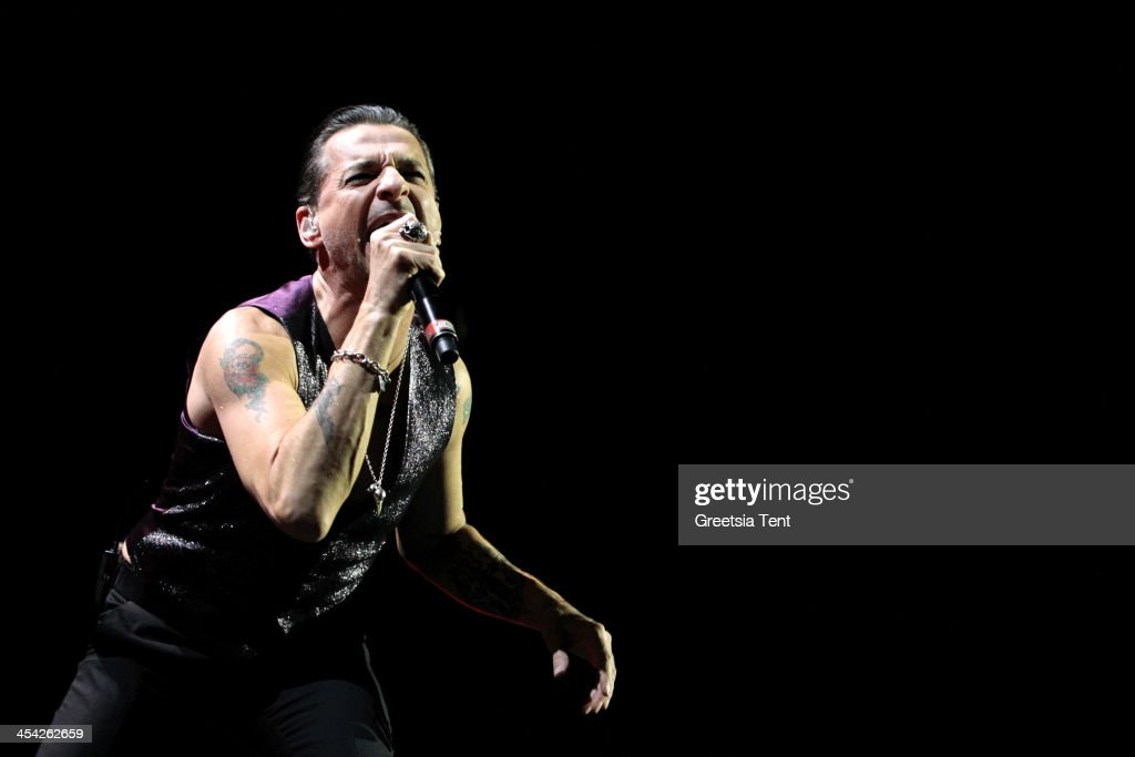 Dave Gahan of Depeche Mode performs at the Ziggo Dome on December 7, 2013 in Amsterdam, Netherlands.