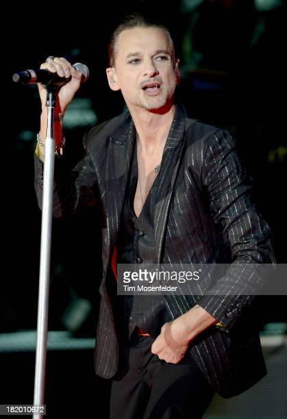 Dave Gahan of Depeche Mode performs in support of the bands' Delta Machine release at Shoreline Amphitheatre on September 26 2013 in Mountain View...