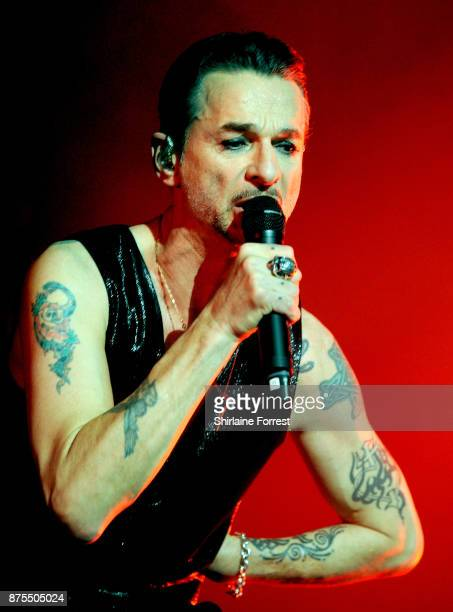 Dave Gahan of Depeche Mode performs live on stage at Manchester Arena on November 17 2017 in Manchester England