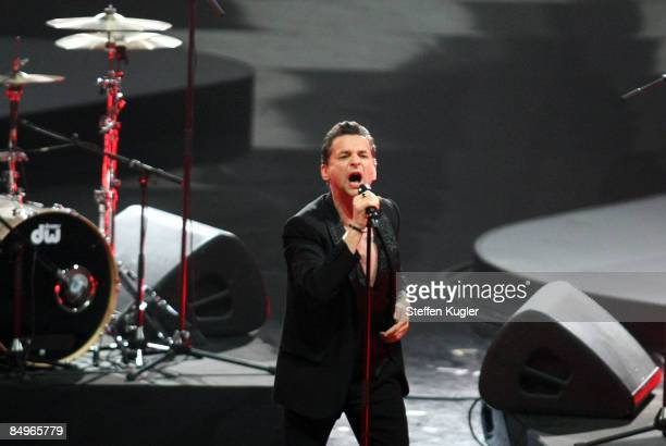 Dave Gahan of Depeche Mode performs live on stage during the 2009 Echo Music Award Show at the O2 Arena February 21 2009 in Berlin Germany