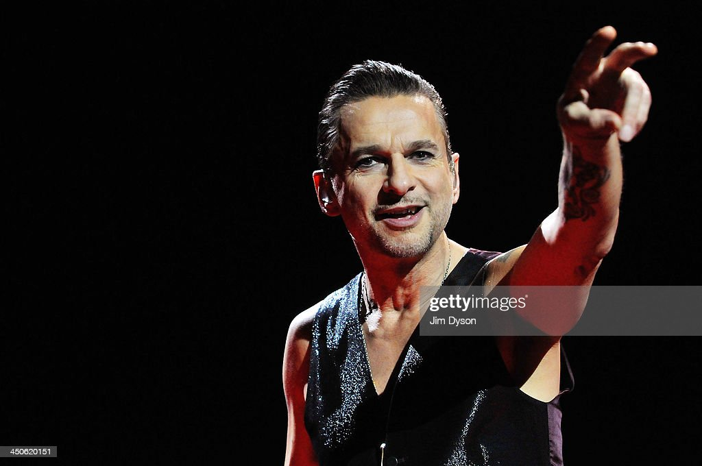 Dave Gahan of Depeche Mode performs live on stage during the 'Delta Machine' tour at O2 Arena on November 19 2013 in London England