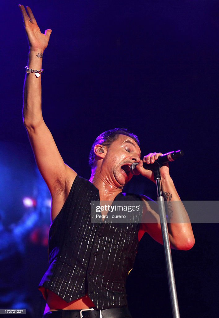 Dave Gahan of Depeche Mode performs on stage as part of Optimus Live Festival 2013 on July 13 2013 in Lisbon Portugal