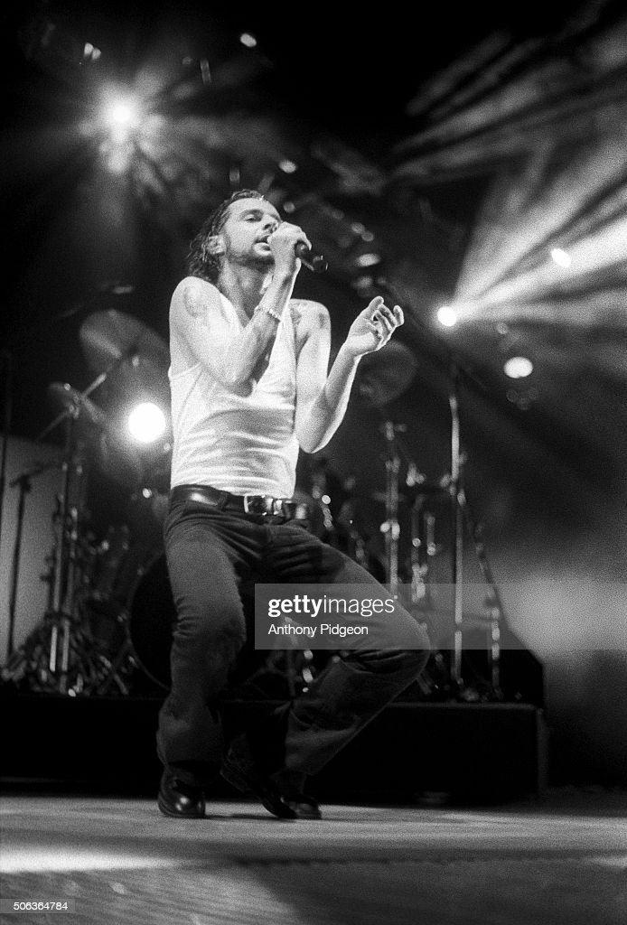 Dave Gahan of Depeche Mode performs on stage at Oakland Coliseum Oakland California USA on 12th November 1993