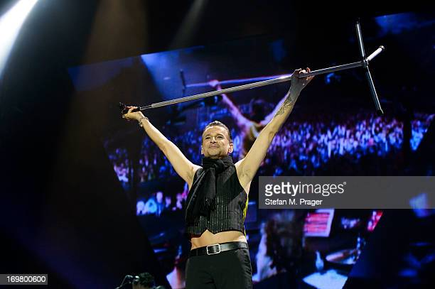 Dave Gahan of Depeche Mode performs on stage at Olympiastadion on June 1 2013 in Munich Germany