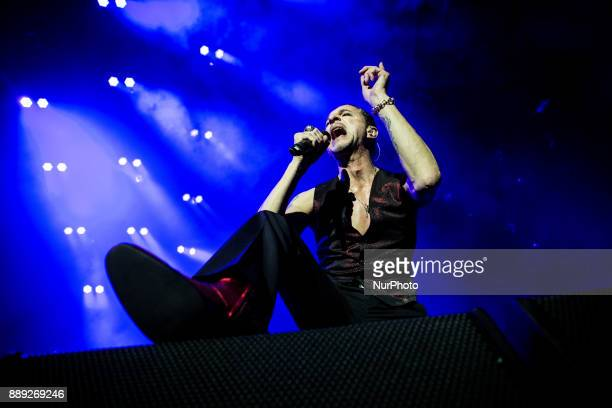 Dave Gahan of the english electronic band Depeche Mode performing live at Pala Alpitour Italy in Turin Italy on 9 December 2017