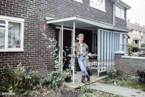 Dave Gahan of the pop group Depeche Mode poses for a portrait at his house on September 05 1982 in London England 170612F1