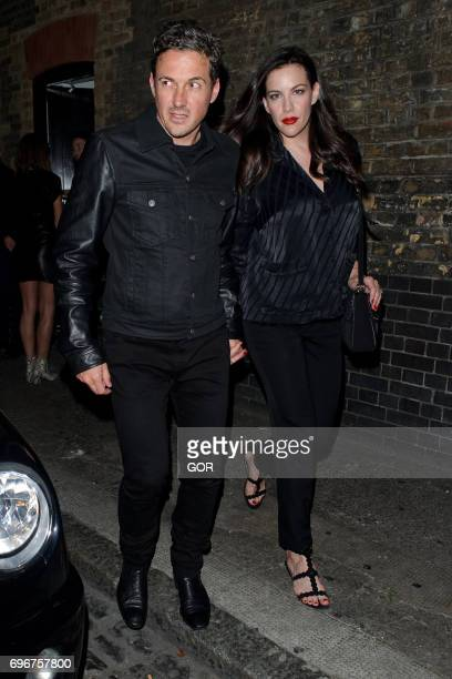 Dave Gardner and Liv Tyler leaving the Chiltern Firehouse on June 16 2017 in London England