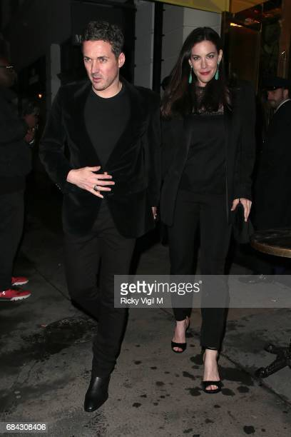 Dave Gardner and Liv Tyler seen leaving Ara Vartanian x Kate Moss launch after party held at Sumosan restaurant on May 17 2017 in London England