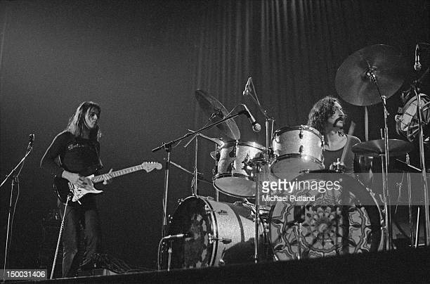 Dave Gilmour and Nick Mason of English rock group Pink Floyd performing at the Winter Gardens Bournemouth 22nd January 1972