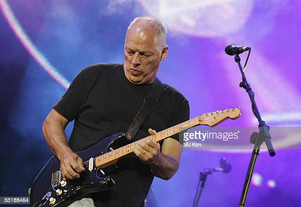 Dave Gilmour from the band Pink Floyd on stage at 'Live 8 London' in Hyde Park on July 2 2005 in London England The free concert is one of ten...