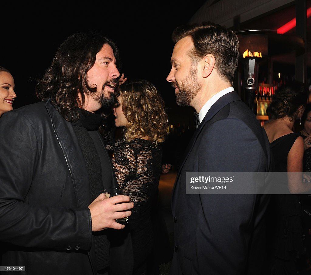 Dave Grohl and Jason Suedekis attend the 2014 Vanity Fair Oscar Party Hosted By Graydon Carter on March 2, 2014 in West Hollywood, California.