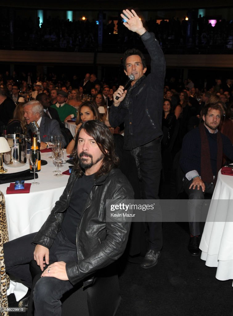 Dave Grohl and Jeff Probst attend 'Howard Stern's Birthday Bash' presented by SiriusXM, produced by Howard Stern Productions at Hammerstein Ballroom on January 31, 2014 in New York City.