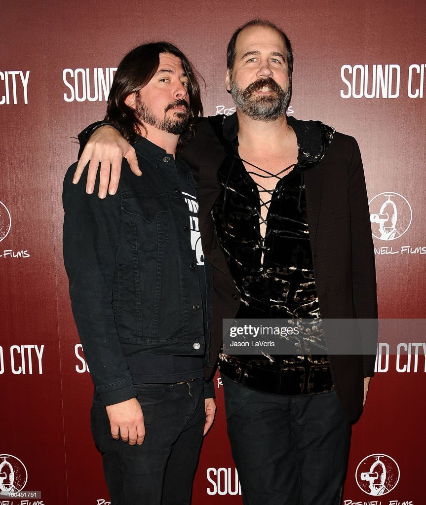 <a gi-track='captionPersonalityLinkClicked' href=/galleries/search?phrase=Dave+Grohl&family=editorial&specificpeople=202539 ng-click='$event.stopPropagation()'>Dave Grohl</a> and <a gi-track='captionPersonalityLinkClicked' href=/galleries/search?phrase=Krist+Novoselic&family=editorial&specificpeople=1054333 ng-click='$event.stopPropagation()'>Krist Novoselic</a> attend the premiere of 'Sound City' at ArcLight Cinemas Cinerama Dome on January 31, 2013 in Hollywood, California.