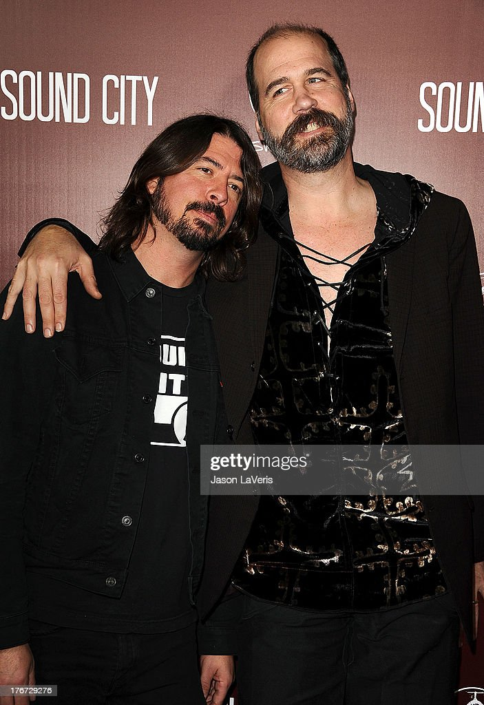 <a gi-track='captionPersonalityLinkClicked' href=/galleries/search?phrase=Dave+Grohl&family=editorial&specificpeople=202539 ng-click='$event.stopPropagation()'>Dave Grohl</a> and <a gi-track='captionPersonalityLinkClicked' href=/galleries/search?phrase=Krist+Novoselic&family=editorial&specificpeople=1054333 ng-click='$event.stopPropagation()'>Krist Novoselic</a> of Nirvana attend the premiere of 'Sound City' at ArcLight Cinemas Cinerama Dome on January 31, 2013 in Hollywood, California.