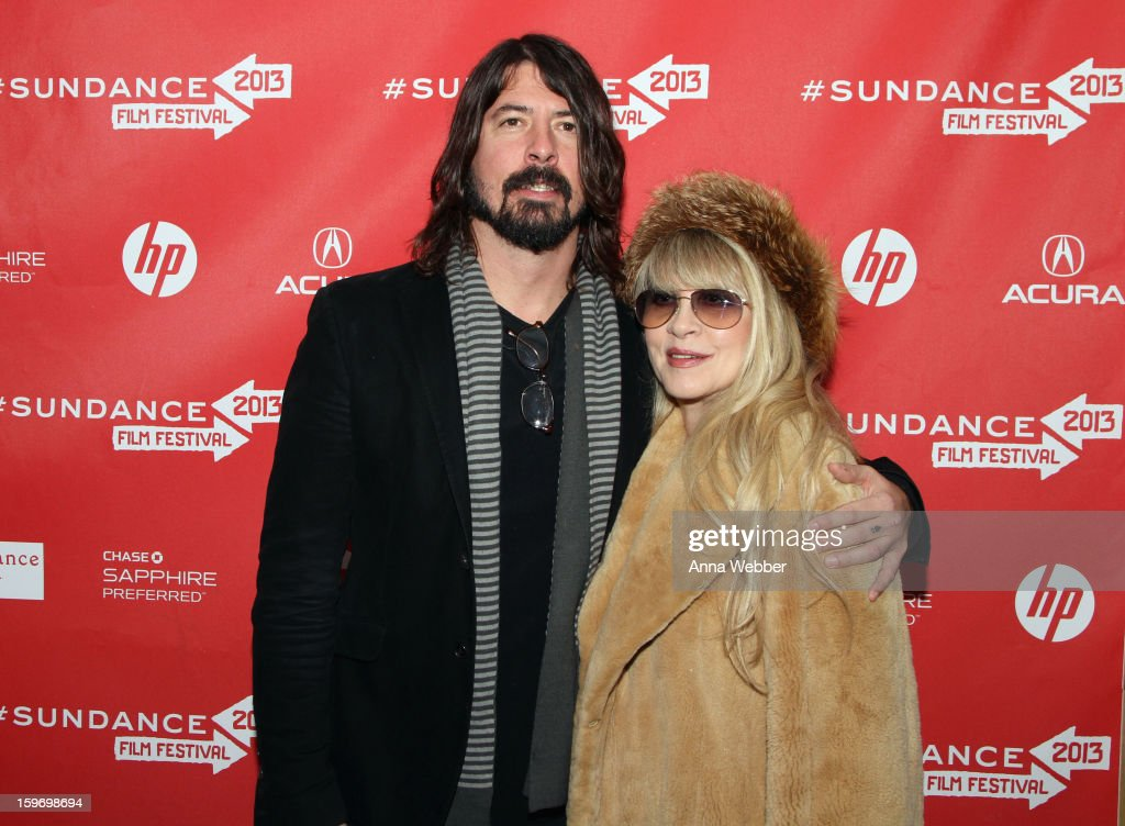 <a gi-track='captionPersonalityLinkClicked' href=/galleries/search?phrase=Dave+Grohl&family=editorial&specificpeople=202539 ng-click='$event.stopPropagation()'>Dave Grohl</a> and <a gi-track='captionPersonalityLinkClicked' href=/galleries/search?phrase=Stevie+Nicks&family=editorial&specificpeople=212751 ng-click='$event.stopPropagation()'>Stevie Nicks</a> attend the 'Sound City' premiere during the 2013 Sundance Film Festival at The Marc Theatre on January 18, 2013 in Park City, Utah.
