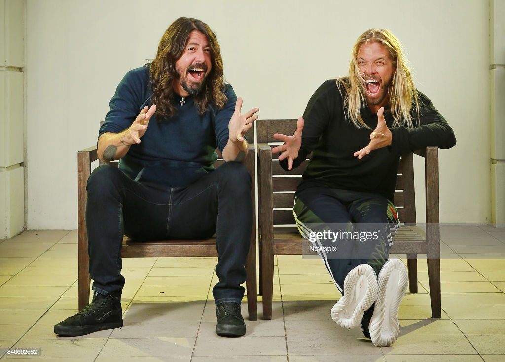 Dave Grohl And Taylor Hawkins Sydney Photo Shoot