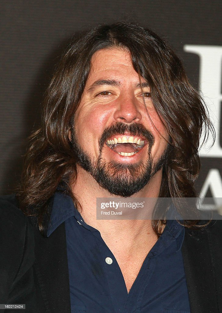 Dave Grohl attends the Brit Awards at 02 Arena on February 20, 2013 in London, England.