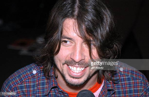 Dave Grohl during Westwood One PreGrammy Radio at Madison Square Garden Terrace in New York City New York United States