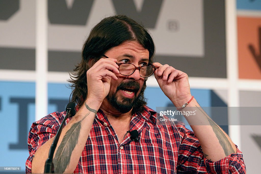 Dave Grohl gives the keynote address during the South By Southwest Music Festival at the Austin Convention Center on March 14, 2013 in Austin, Texas.