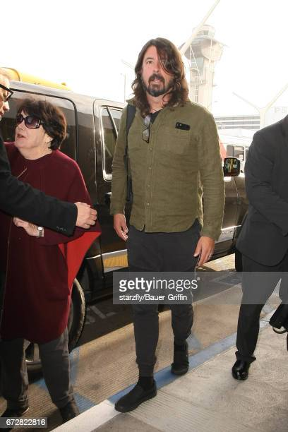 Dave Grohl is seen at LAX on April 24 2017 in Los Angeles California
