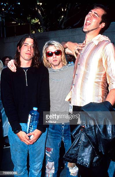 Dave Grohl Kurt Cobain and Krist Novoselic of Nirvana