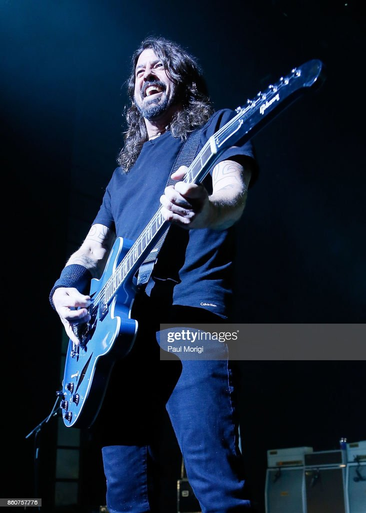 Dave Grohl of Foo Fighters performs as the headliner for the first show at The Anthem on October 12, 2017 in Washington, DC.