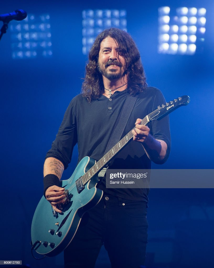 Dave Grohl of Foo Fighters performs on day 3 of the Glastonbury Festival 2017 at Worthy Farm, Pilton on June 24, 2017 in Glastonbury, England.