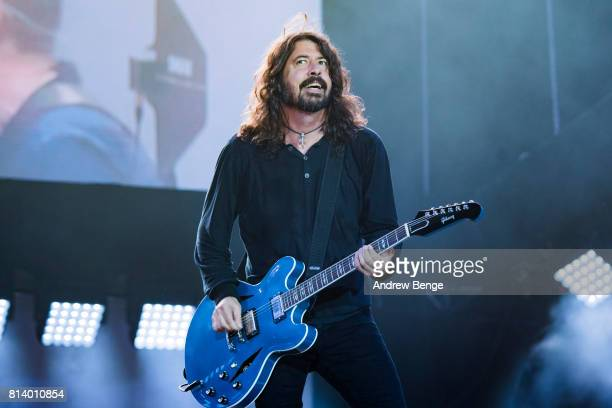 Dave Grohl of Foo Fighters performs on the NOS Alive stage during day 2 of NOS Alive on July 7 2017 in Lisbon Portugal