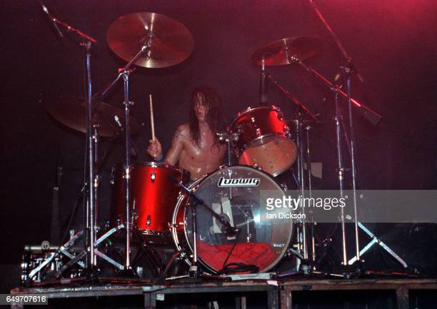 Dave Grohl of Nirvana performs on stage at the Astoria Theatre London 5th November 1991