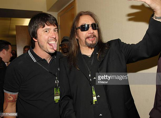 Dave Grohl of the Foo Fighters and Ace Frehley of KISS