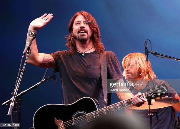 Dave Grohl of the Foo Fighters performs during an Apple special event at the Yerba Buena Center for the Arts on September 12 2012 in San Francisco...