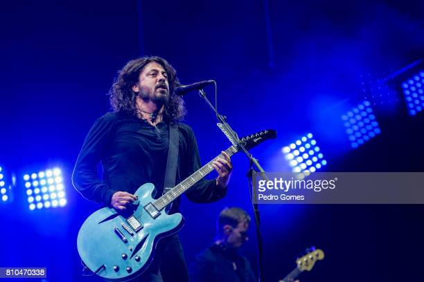 Dave Grohl of the Foo Fighters performs on the NOS stage at day 2 of NOS Alive festival on July 7 2017 in Lisbon Portugal