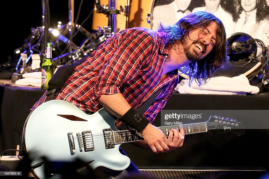 Dave Grohl performs in concert at the Sound City showcase at Stubbs BBQ during the South By Southwest Music Festival on March 14, 2013 in Austin, Texas.
