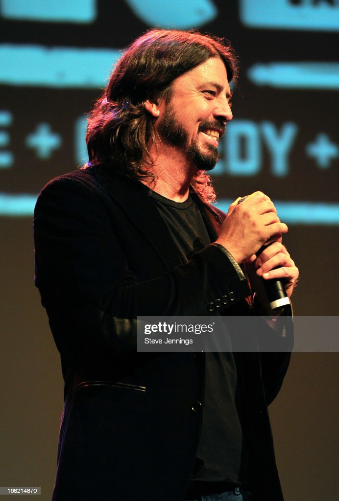Dave Grohl Q&A following the BottleRock Napa Valley screening of 'Sound City' at The Uptown Theatre on May 6, 2013 in Napa, California.