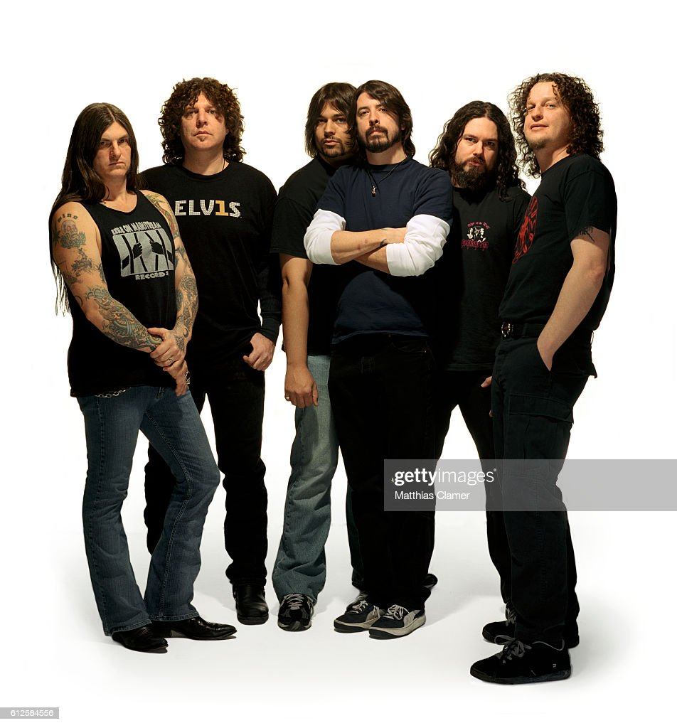 Dave Grohl (third from right) with heavy metal group Probot, including singer Wino (far left).