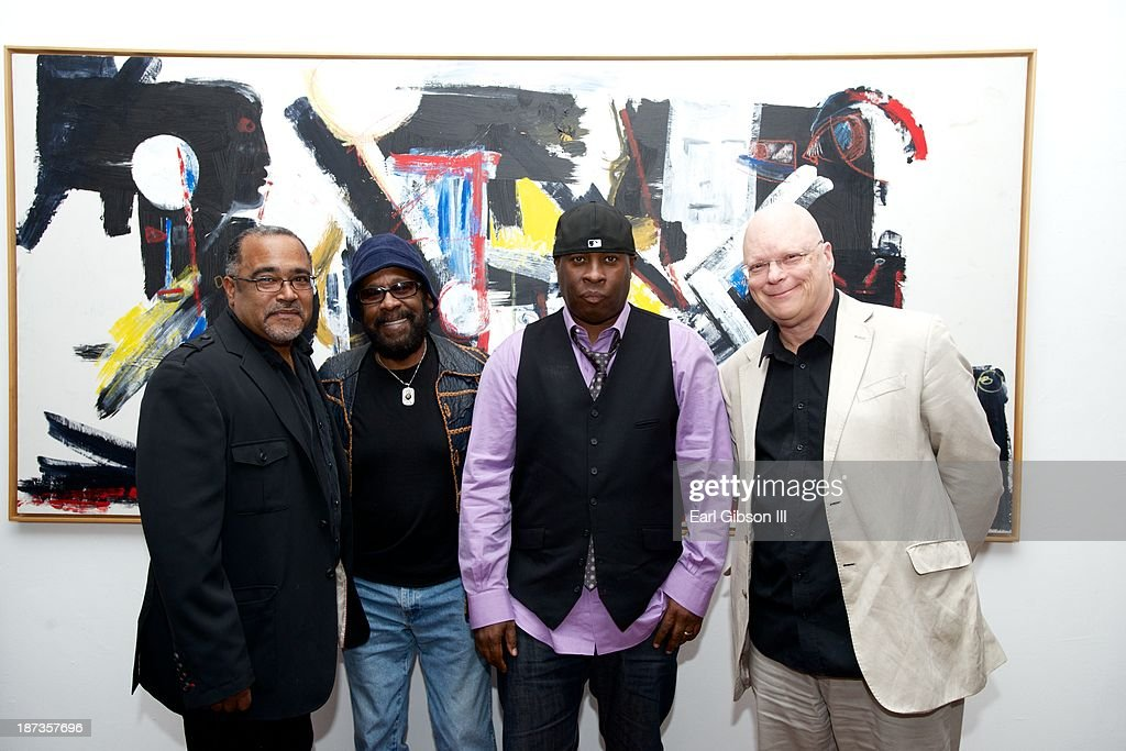 Dave Hampton, Melvin 'Wah-Wah Watson' Ragin, Vince Wilburn Jr. and John Altman attend the 'Miles Davis: The Collected Artwork' Launch Party at Mr. Musichead Gallery on November 7, 2013 in Los Angeles, California.
