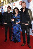 Dave Haywood Hillary Scott and Charles Kelley of Lady Antebellum arrive at the American Country Awards 2013 at the Mandalay Bay Events Center on...